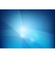 Blue abstract background lighting curve and layer vector image vector image