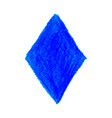 blue crayon scribble texture stain rhombus shape vector image vector image