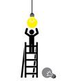 bulb light vector image