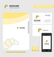 bun business logo file cover visiting card and vector image vector image
