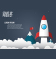 business infographic start up style vector image