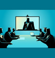 business men and women having teleconference vector image vector image