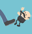businessman kicked by his boss businessman big vector image vector image