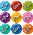 Buttons with DNA symbols vector image vector image