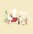 cardiology concept cardiologists checking up vector image