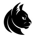 cat head symbol vector image vector image