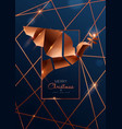christmas and new year card luxury copper dove vector image vector image