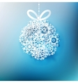 Christmas ball made from snowflakes EPS 10 vector image vector image