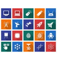 collection of square icons high technology vector image