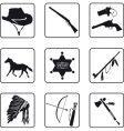 cowboy symbols vector image vector image