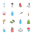 creative pack of objects vector image