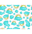 cute rainbow seamless pattern with colorful vector image vector image