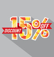 Discount 15 Percent Off vector image vector image
