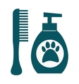 Dog hygiene icon vector image