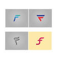 f logo letter template vector image vector image