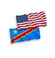 flags democratic republic congo and vector image