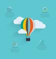 flat design startup process cloud storage vector image vector image