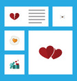 flat icon passion set of divorce letter soul and vector image vector image