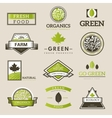 Fresh and natural food logos vector image vector image