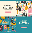 garment factory horizontal banners vector image vector image