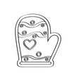gingerbread with a christmas glove shape vector image vector image