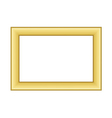 Gold frame Beautiful golden white vector image vector image