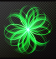 green light abstract star shine circles vector image vector image