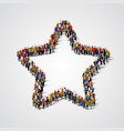 group of people in the star sign shape vector image vector image