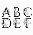 hand drawn floral uppercase letters