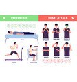 heart attack cardiac disease brochure symptoms vector image