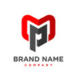 initial logo mp vector image vector image