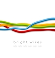 Isolated bright wires on white background vector image vector image
