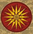 macedonia symbol vector image vector image