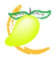 mango isolated on white background vector image vector image