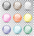 multi-colored glass balls vector image vector image