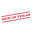 New In Texas Watermark Stamp vector image
