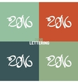 New Year hand-drawn lettering vector image