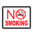 no smoking black color sign on white background vector image