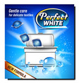 perfect white wash powder advertise banner vector image vector image