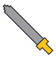 pixel sword weapon warrior battle vector image vector image