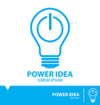 Power idea symbol icon vector image vector image