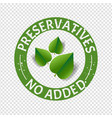 preservatives free natural food stamp transparent vector image