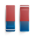 realistic eraser isolated school blue vector image