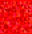 red triangle tile mosaic background vector image vector image