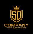 sd logo vector image vector image