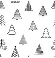 seamless pattern hand drawn doodle sketch vector image vector image