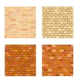 Set brick different color on white background vector image vector image