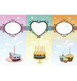 Set of calebration banners vector image vector image