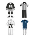 set uniforms of sport game to competition vector image
