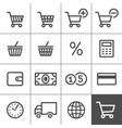 Shopping icons set - Simplines series vector image vector image